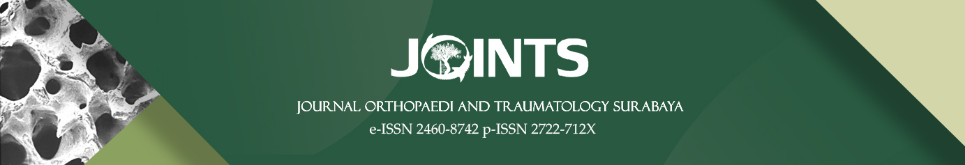 JOINTS (Journal Orthopaedi and Traumatology Surabaya)